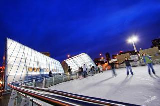 Brenton Skating Plaza Des Moines Winter