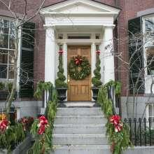 Beacon Hill Holiday Door