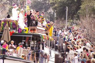 Mardi Gras - The Krewe of Tchefuncte boat parade.