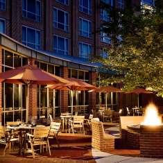 Hotel patio exterior