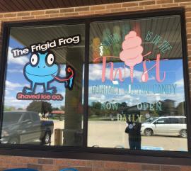Frigid Frog window