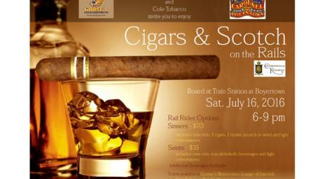 CIGARS & SCOTCH ON THE RAILS