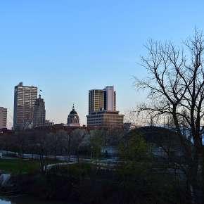 Downtown Spring Skyline - Fort Wayne, IN
