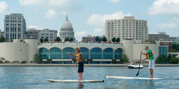 SUP Paddleboarding Monona Terrace