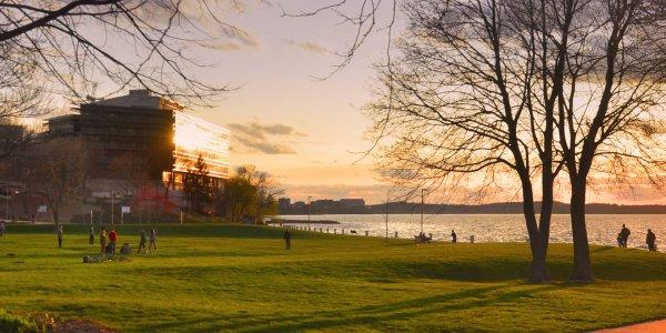 Sunset at James Madison Park on Lake Mendota