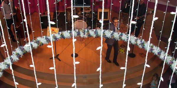 Overture Rotunda at Holiday time