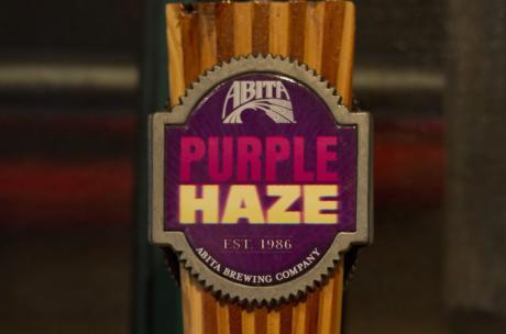 Wine and Beer - Abita Purple Haze tap