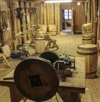 Bøkkerbua Wooden barrel construction Feda southern Norway