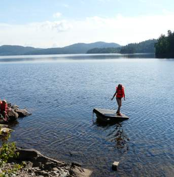 Swimming and fishing in Vegårshei Norway