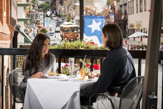 Summer Outdoor Dining on Historic Main Street