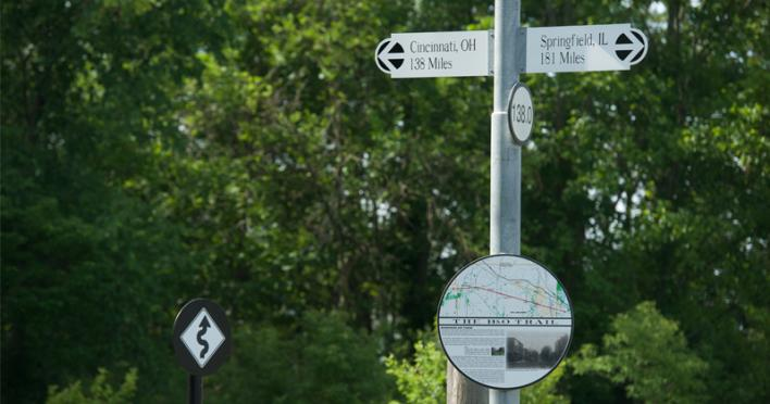 Sign on B&O Trail