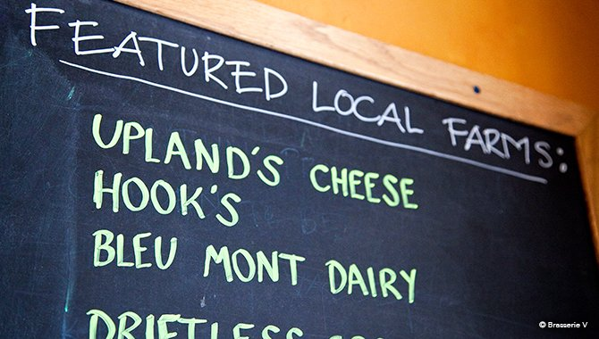 Featured Local Farms :: BrasserieV Menu Chalkboard