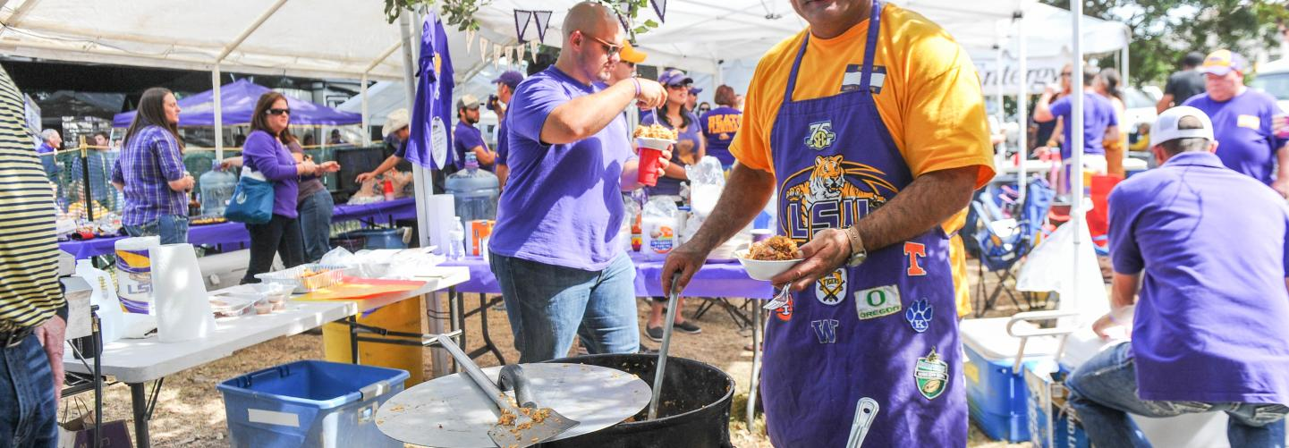 Tailgating Baton Rouge-style during LSU Gameday