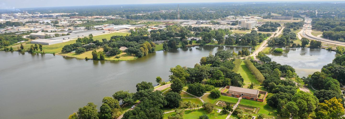 Aerial photo of Baton Rouge