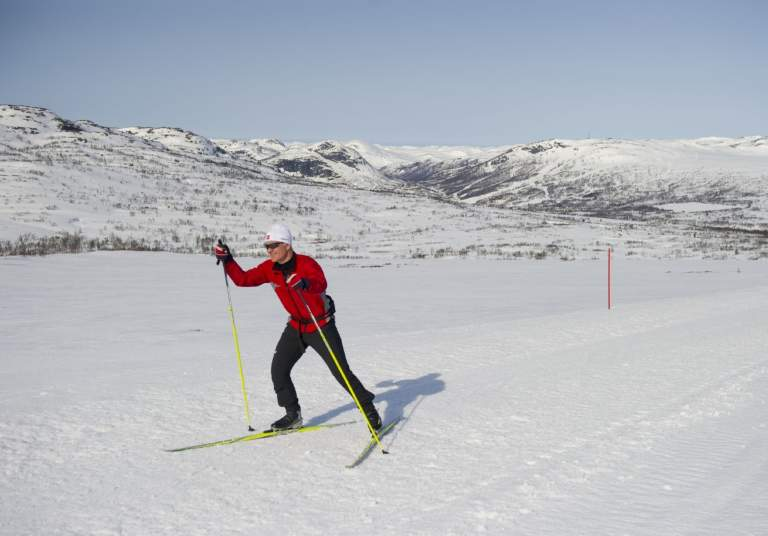Cross country skiing at Hovden
