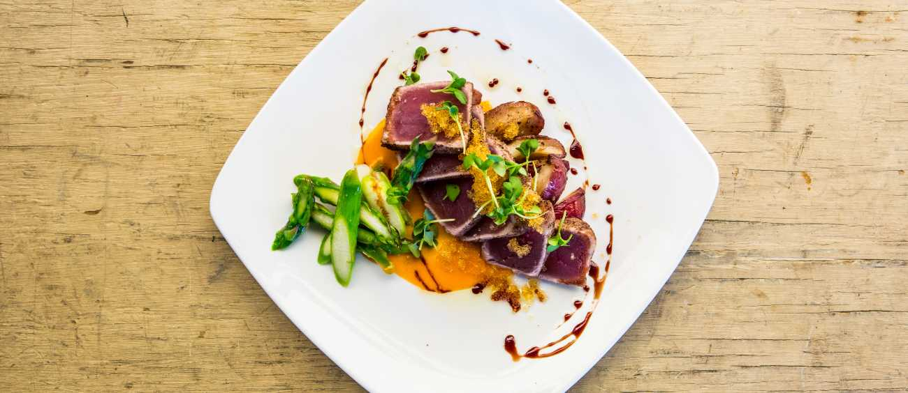 Seared tuna from Wine Country Bistro
