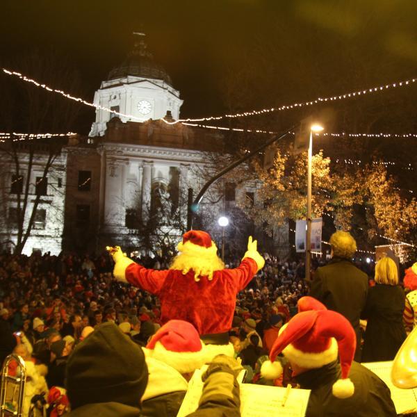 Canopy of Lights Santa