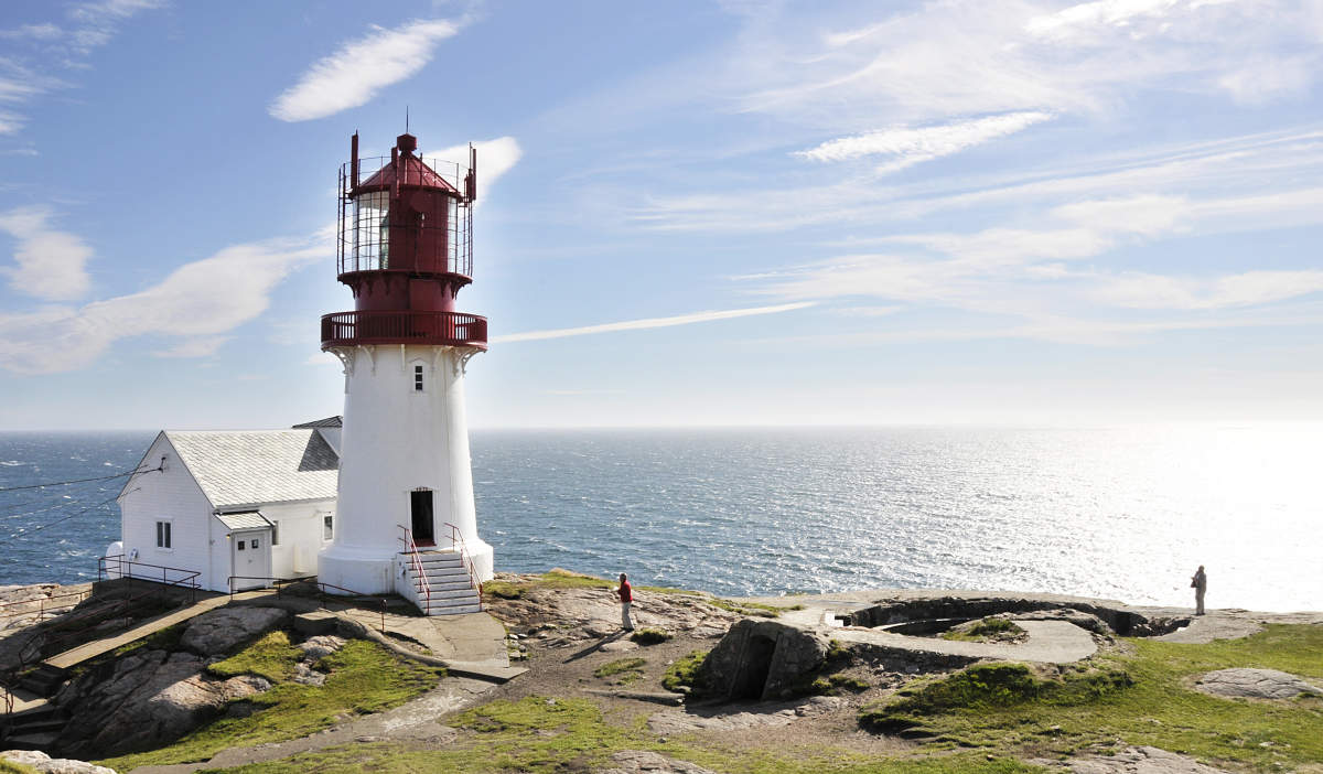 Visit Lindesnes Lighthouse, the southernmost point in Southern Norway