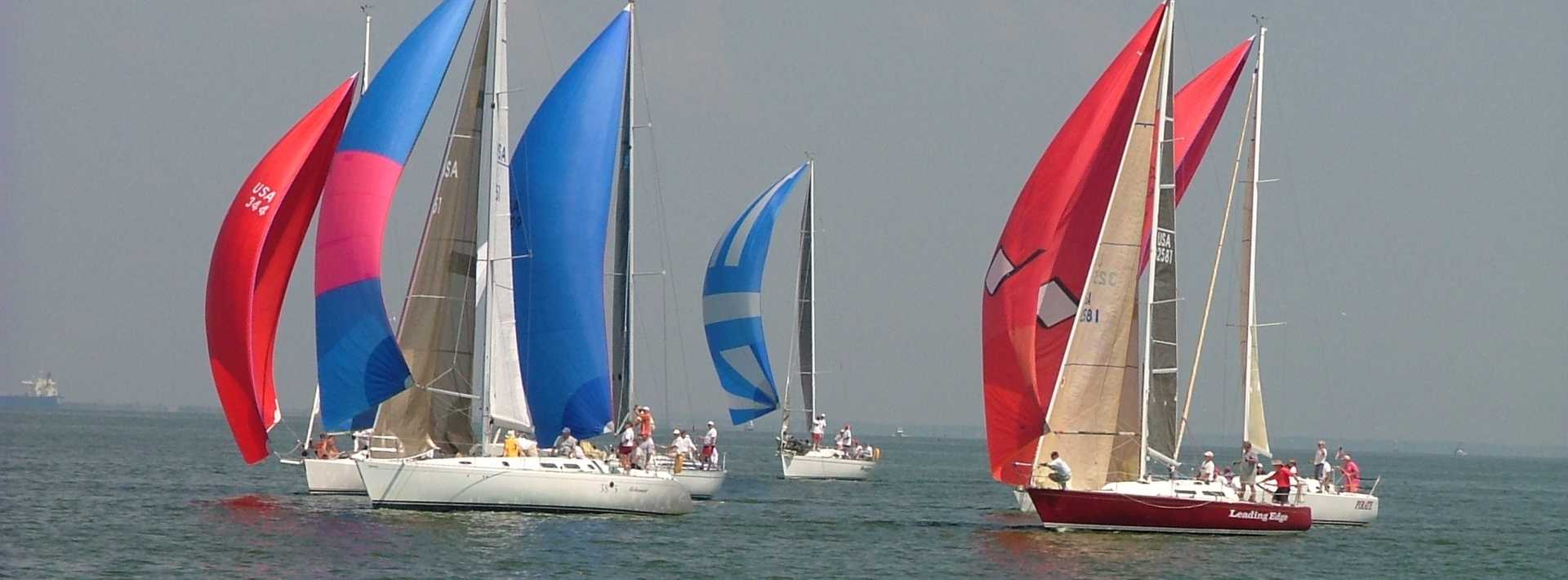 Sailboats on Galveston Bay