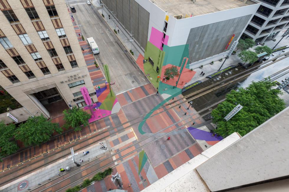 art block installation