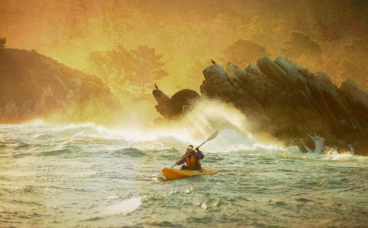 Kayak at Point Lobos