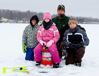 Ice Fishing on Owasco Lake