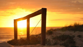 One of the stunning sunrises captured by Kathleen Swinbourne.