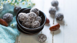 Rachel's coconut-almond bliss balls are tasty and nutritious.