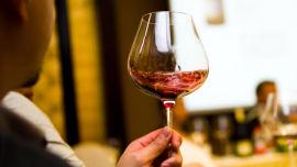 Awaken your wine with a few swirls around the glass.