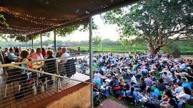 A beautiful setting for a picnic or a meal and a great night of music.