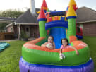 Home Delivery Rainbow Modern Bounce House Combo