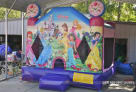 cinderella jasmin bell princess moonwalk princess themed jump house