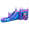 Pink Bounce House Slide