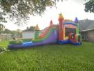 Party Rainbow Modern Bounce House Combo