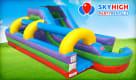 34ft Retro Combo Slip N Water Slide Huge