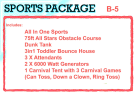 Sports Bounce House Package Rentals