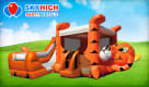 Tiger Belly Bounce House Combo Wet/Dry