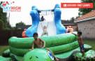 Wet Slide Kids Playing