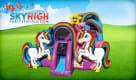 Big Unicorn Bounce House Inflatable