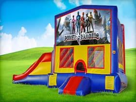3in1 Power Rangers Moonwalk w/ Wet or Dry Slide