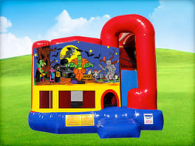 4in1 Halloween Bounce House w/ Wet or Dry Slide