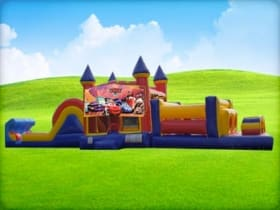 50ft Cars Obstacle Course w/ Wet or Dry Slide