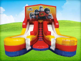 16ft Double lane Incredibles Water Slide