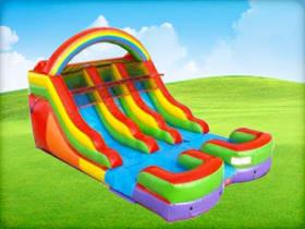 12ft Rainbow Kids Double Slide (Dry/Wet)