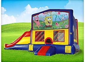3in1 Spongebob Moonwalk w/ Wet or Dry Slide