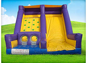 Inflatable Rockwall and Slide