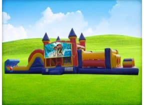 50ft Moana Obstacle w/ Wet or Dry Slide
