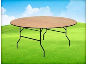 6ft Round Banquet Table
