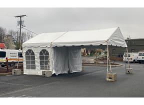 10x30 One Lane Drive Through Tent