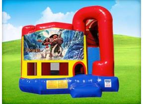 4in1 Moana Bounce House w/ Wet or Dry Slide